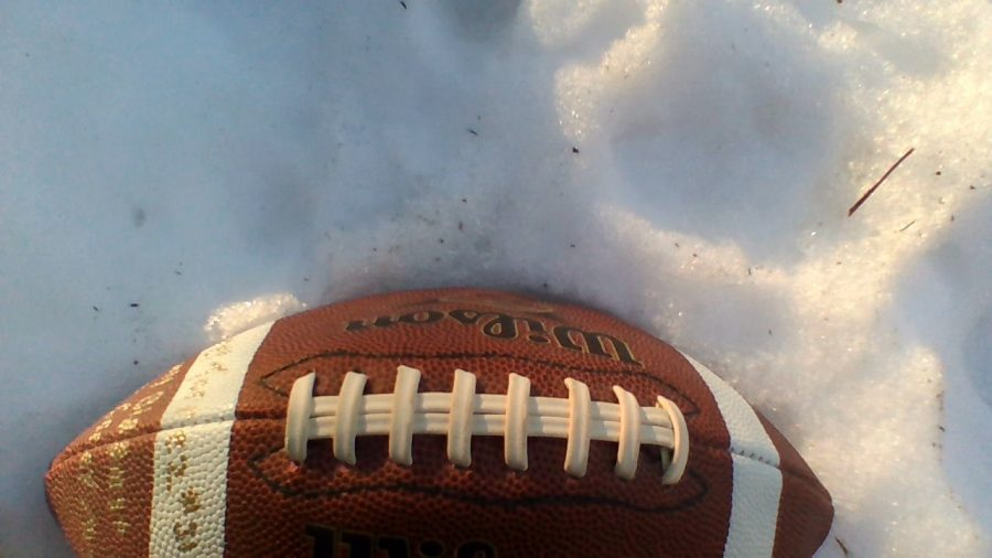 A football during the superbowl season