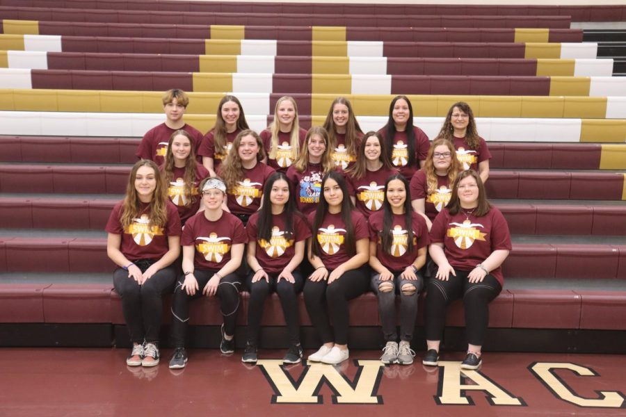 HHS Girls swimming team will have five more varsity meets.