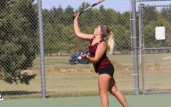 Senior Morgan Shorb placed first in No. 1 Singles. The next varsity meet will be in Goodland on Saturday, Sept 11.
