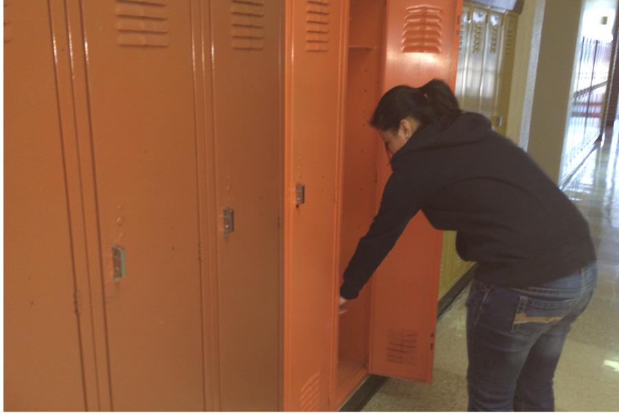 Students express views on lockers