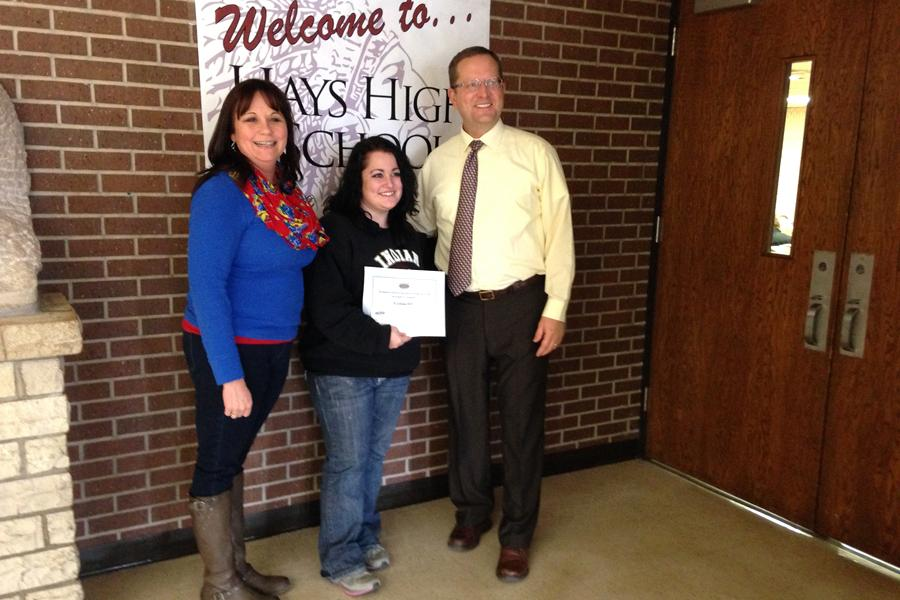 Senior takes recognition for Kansas Next Step's award