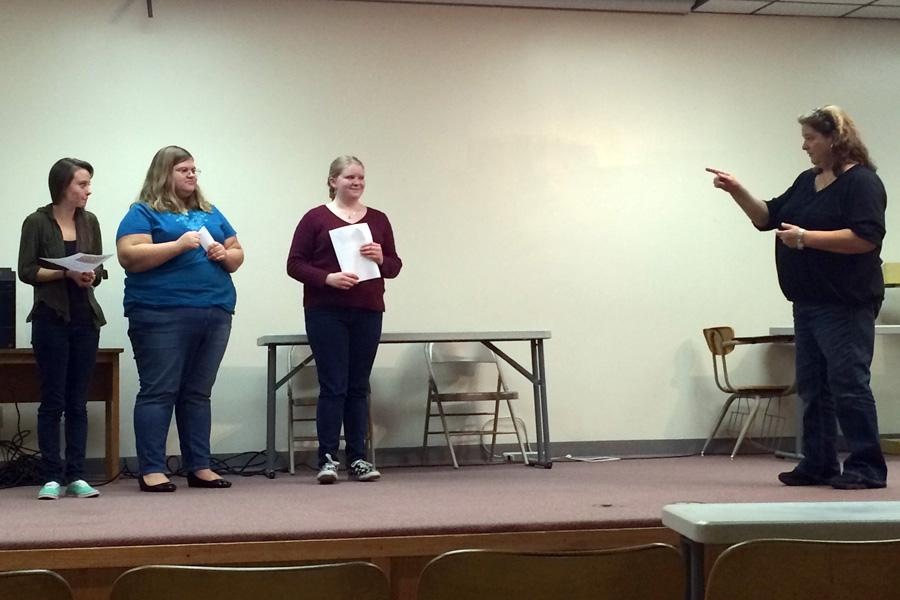 Three compete in poetry recitation contest