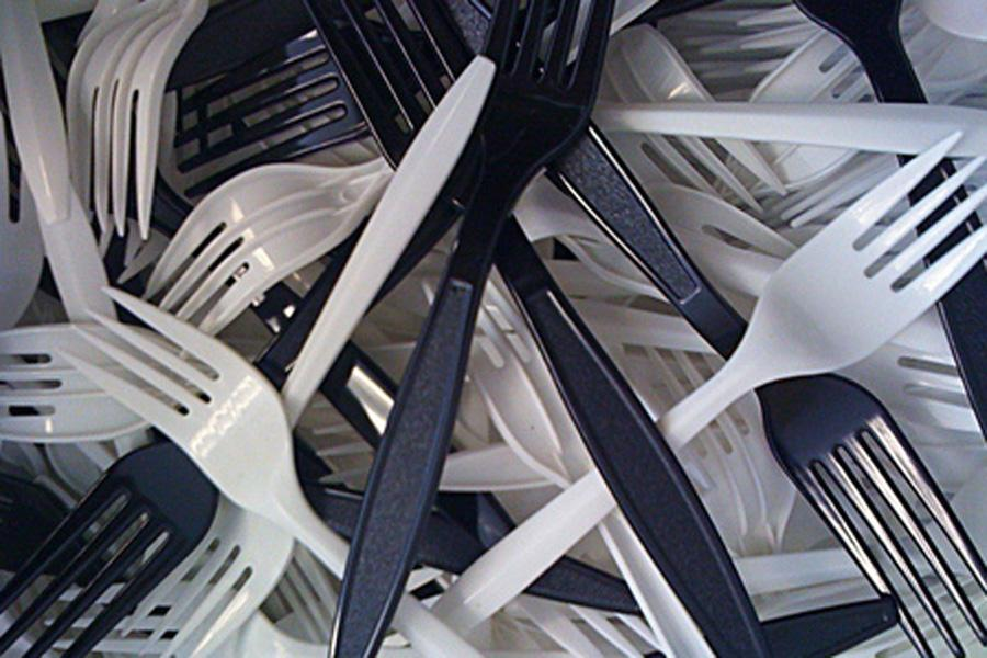 Metal forks are replaced by plastic