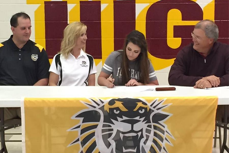 Senior Lexie Schaben signs with FHSU
