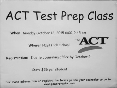 ACT test results in opinions from students