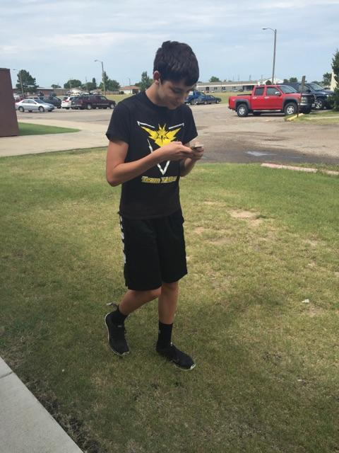 Junior spends two hours daily playing Pokémon Go
