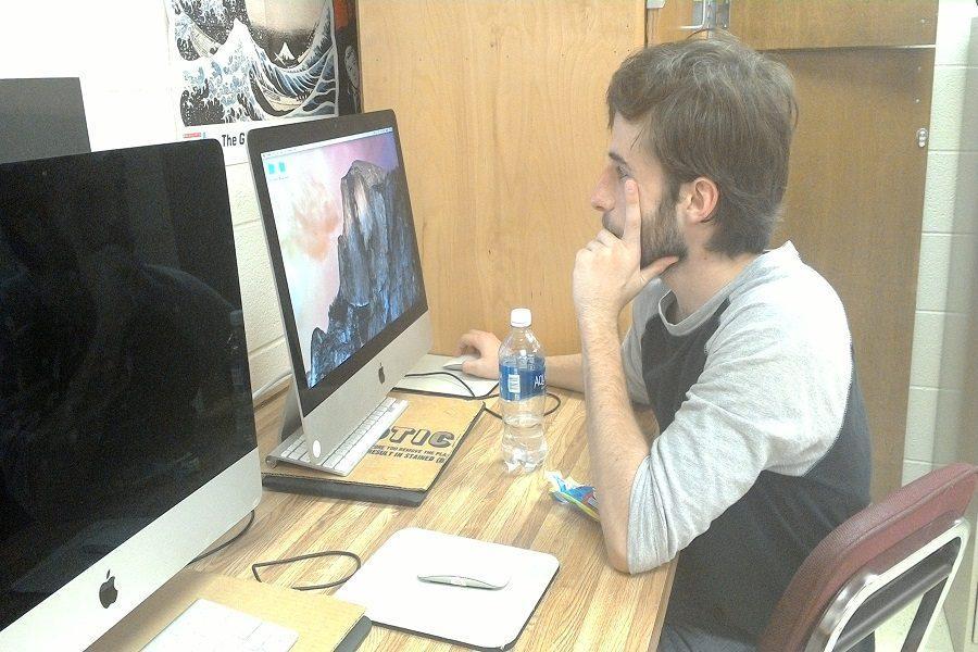Senior spends free time coding