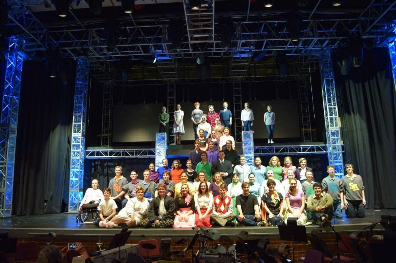 The cast originally performed in November. Each nigh the cast had a Jester Awards judge sit in on the show.