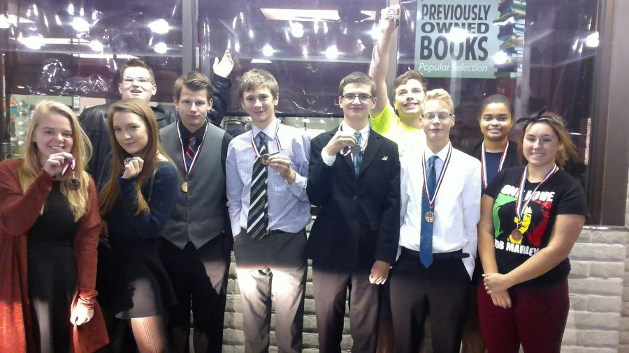 Novice debate competes in Russell