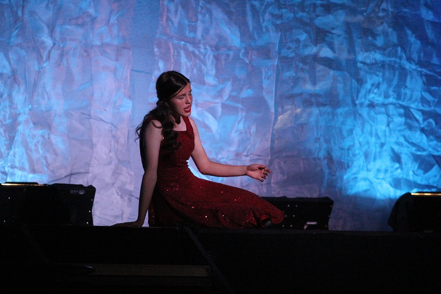 Sophomore Hannah McGuire perfomring her solo
