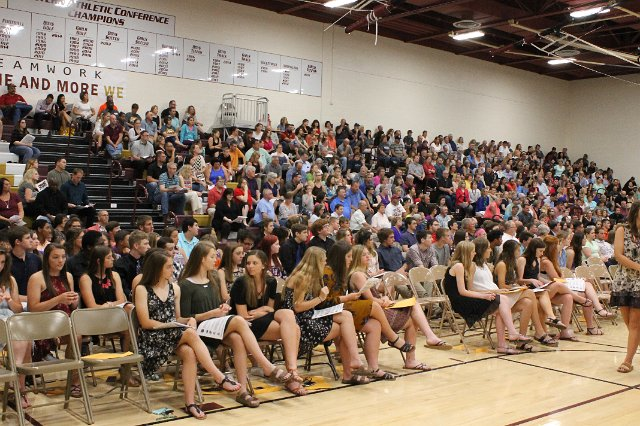 Students%2C+teachers+and+parents+gathered+to+honor+students+of+excellence.