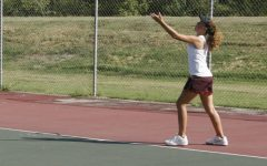 Girls tennis plays at home