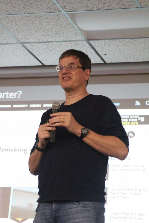 Creator of Google Earth, Uber presents to students