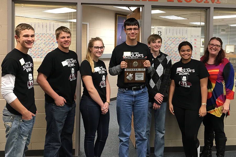 Scholars bowl placed as the runner-up at the regional tournament this year. This status allowed them to continue on to compete at state for the first time in the history of the Scholars Bowl team.