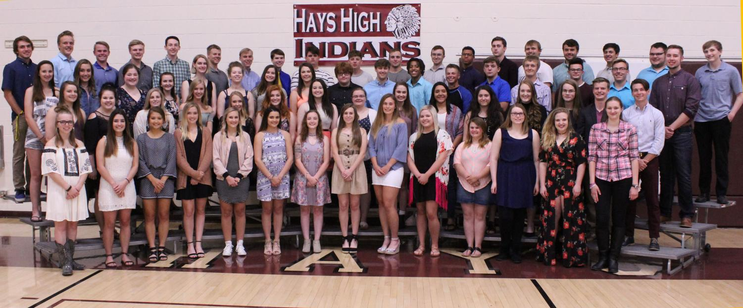 Members of the class of 2018 were recognized at the awards ceremony on May 7.