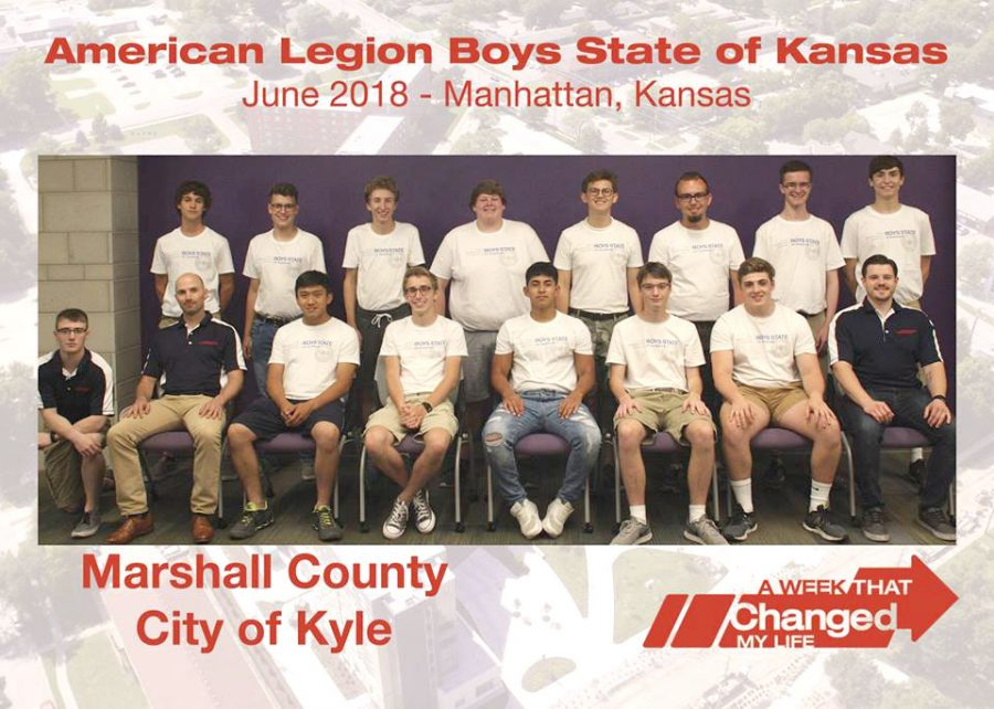 Boys State took place June 3 to 16, senior, Scout Perryman attended. (5 from the right)