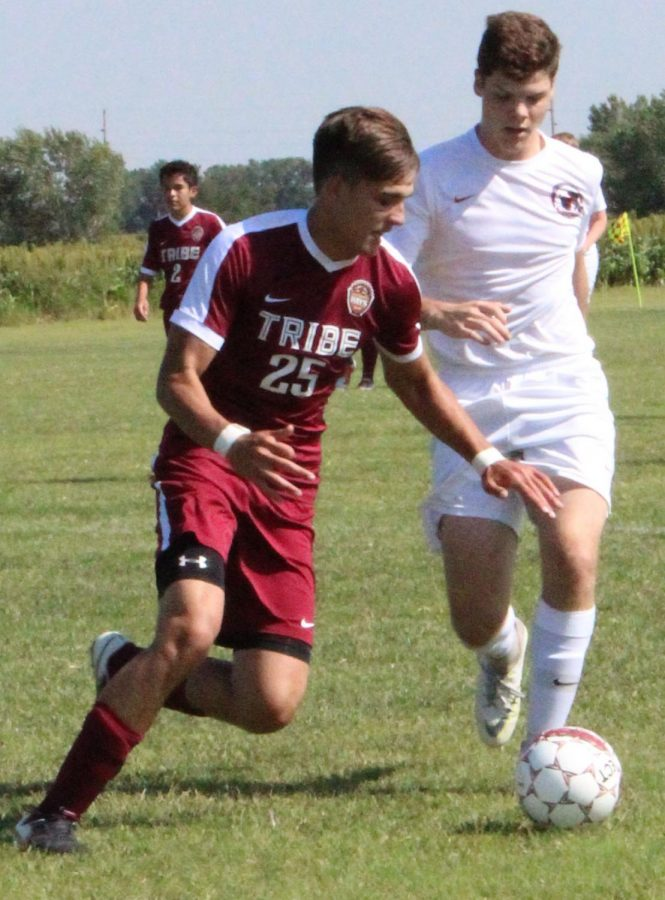 Senior Braiden Meyers looks to turn up field  in recent home match up against Wichita Classical.