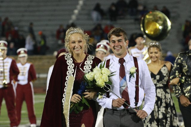 Seniors Brittani Park and Peyton Thorell were crowned king and queen on Oct. 5 during halftime of the Homecoming game at Lewis Field Stadium. The two plan to return for the Homecoming game next year.
