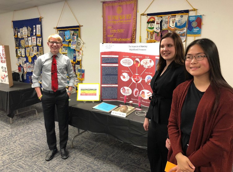 Senior Johnny Fuller and sophomores Callie Raacke and Ginny Ke took first at the regional competition for the Night at the Lab program. The trio will now be advancing on to state which is set to take place Nov. 27 and 28 in Kansas City.