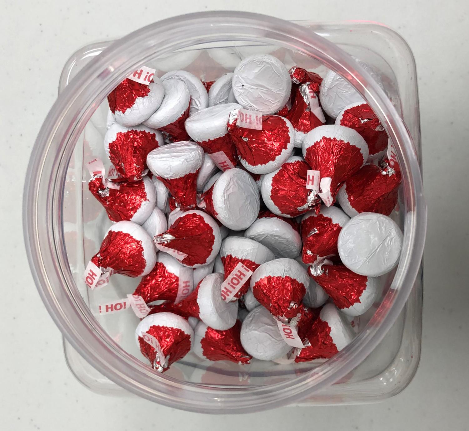 The Guidon is hosting a contest asking participants to guess how many Hershey's kisses are in this jar. The winner will receive a $20 giftcard to Cervs and second place will receive a $10 iTunes giftcard. The contest ends Dec. 19.