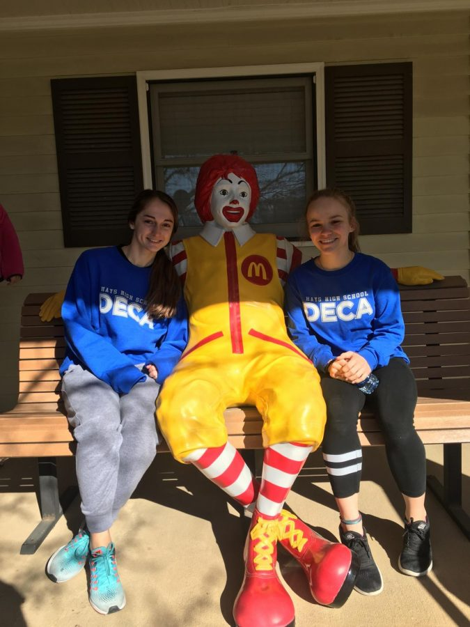 Seniors Isabelle Braun and Kallie Leiker have been working on the Ronald McDonald House DECA project for the past two years.