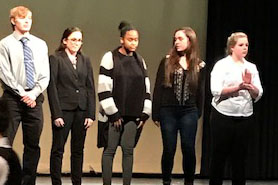 Forensics team finishes with four finalists at Colby tournament