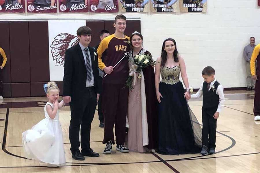 Former king and queen Ryan Will and Gabby Taliaferro attended the basketball game on Feb. 8. The new royalty are seniors Cade Swayne and Hannah McGuire.