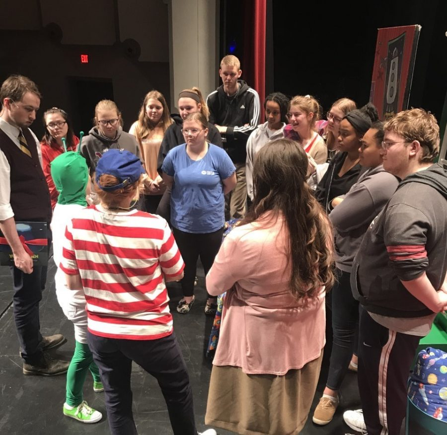 After the play students had the opportunity to ask any questions they had. Students went to FHSU on March 1.