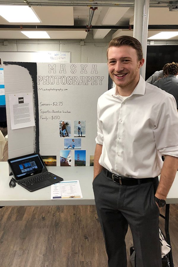 Senior Jacob Maska took third at the Youth Entrepreneurship Challenge that took place on March 20 at Brief Space. Maska plans to compete at state on April 30.