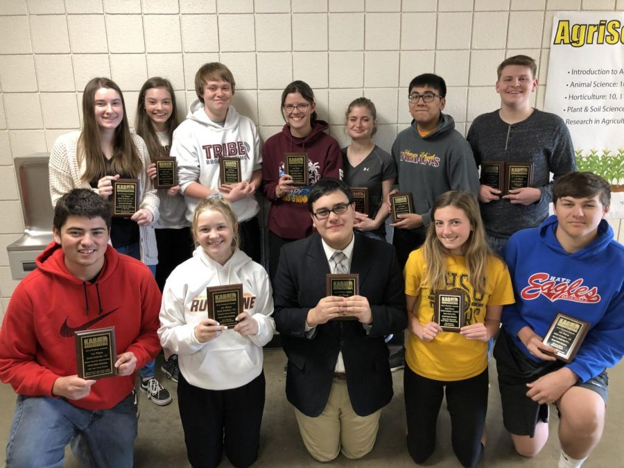 Tribe Broadcasting students won nine awards with five first place awards, two second place awards and two third place awards.
