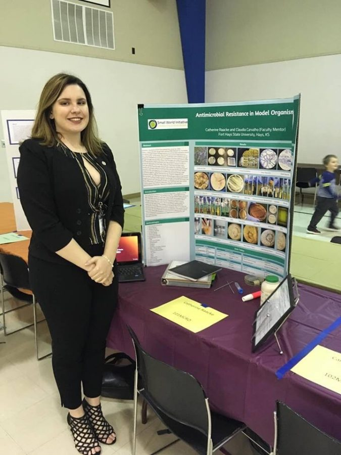 Sophomore Callie Raacke won third place at the state science fair. She did her presentation over Antimicrobial Resistance in two model organisms: Staphylococcus Epidermis and Rhizopus Stolonifer.