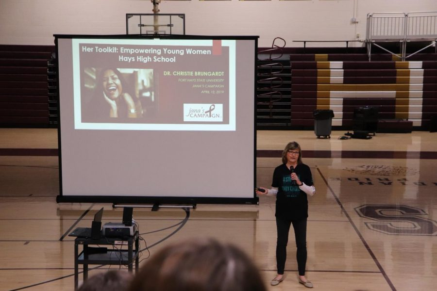 The speakers were Drs. Curt and Christie Brungardt, both are professors at Fort Hays State University in the leadership department.