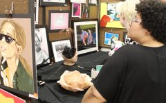 Students display art work at exhibit