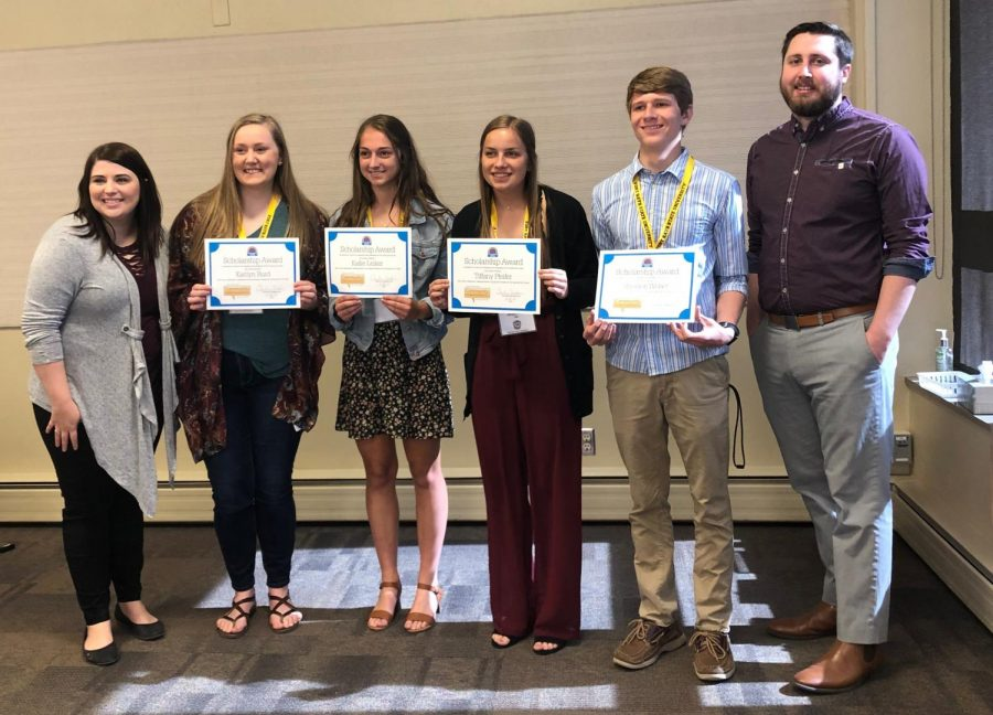 Senior Kallie Leiker received a $500 scholarship from Sunflower Community Bank for being a part of the Sunflower Community Ambassadors. To do this, Leiker had to write an essay explaining what being an ambassador meant to her.