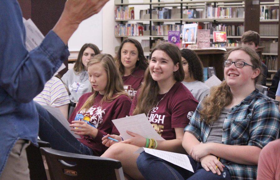 Freshmen listen to speaker Christie Brungardt from FHSU present. Brungardt spoke about Jana's Campaign