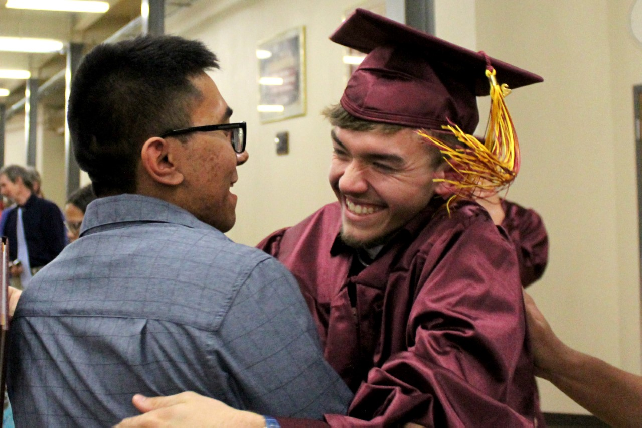 Seniors took the moment after graduation to be congratulated by theur loved ones. The class of 2019 graduated on May 12 at 1:30 p.m. at Gross Memorial Coliseum.