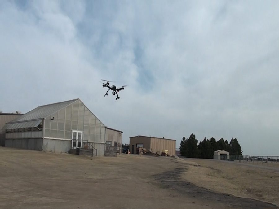 Instructor Dan Balman has spent lots of time practicing flying drones after receiving his license over the summer.
