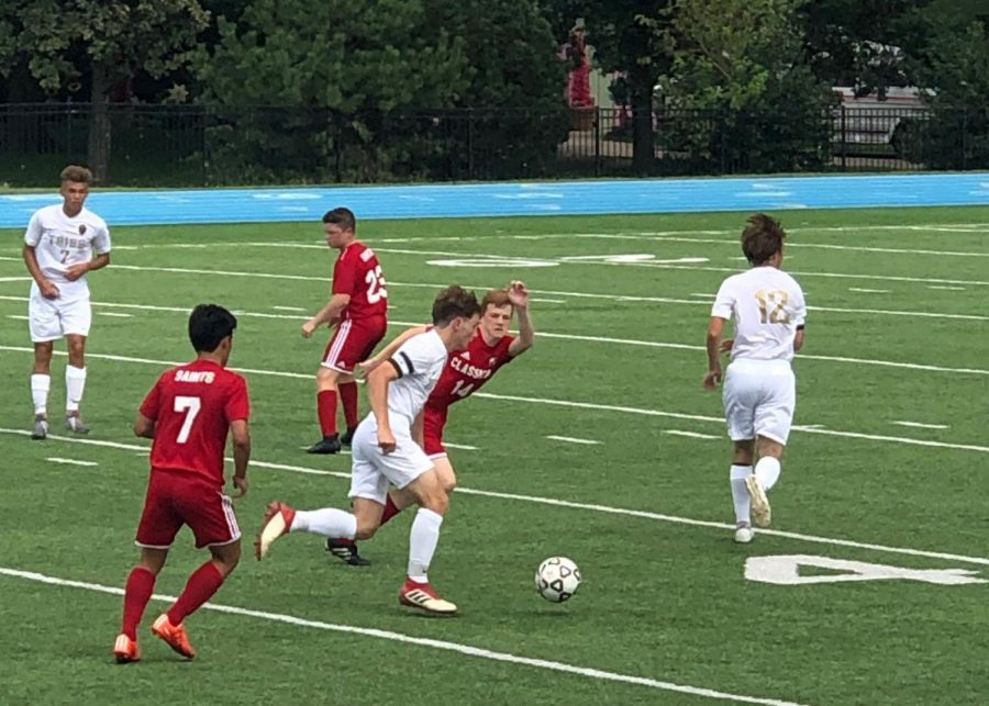 The+boys+soccer+team+kicked+off+their+season+with+a+win+against+Wichita+Independent+on+Aug.+30.