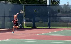 Girls' varsity tennis plays at McPherson
