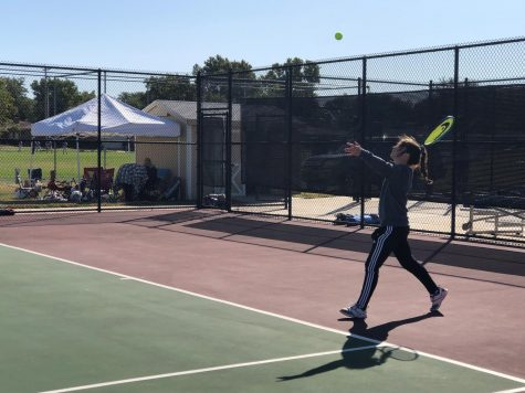 Girls' tennis competes at home meet