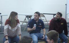 Engineering Manager for the Denver Broncos speaks to students on Nov. 8