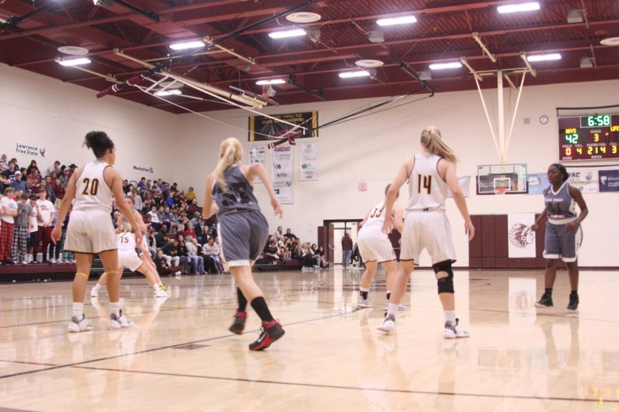 The lady Indian defense breaks down while playing Life Prep.
