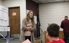 On-Air Talent, Music and Program Director presents to students