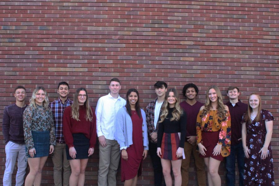 Indian Call Candidates pose for a photo downtown. Indian Call King and Queen will be crowned at the basketball game on Feb. 21.