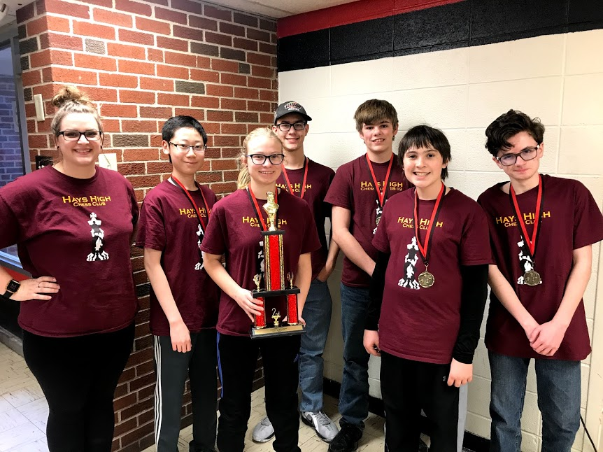 The chess team placed second at their tournament in Concordia.