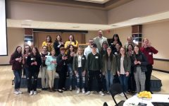 Students pose for a picture at Fort Hays State University Future Educator's Day. Seventeen students from Hays High attended the event.