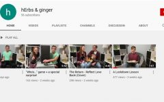 "Seniors Nathan Erbert and Lynsie Hansen have created a YouTube channel called ""hErbs & Ginger.""Hansen said she enjoys learning how to edit videos and watching failed attempts."