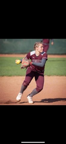 Senior Macee Altman fields a routine play at shortstop during a game her junior year. Her senior year was cancelled due to COVID-19.