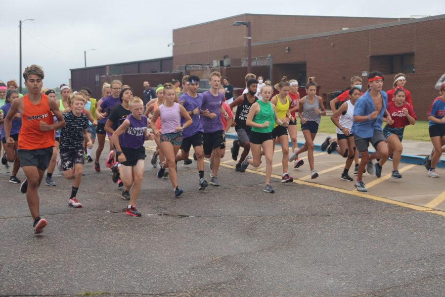 Cross country hosted a preseason mock meet before their first meet in Great Bend.