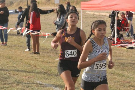 Freshman Arely Maldonado was the only Indian runner that competed at state this year.